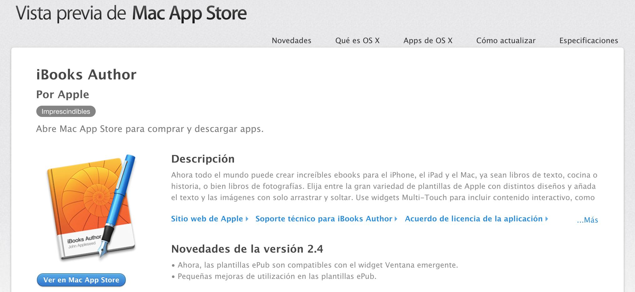 Descargar e instalar iBooks Author | Publicación Digital | Elabora ...