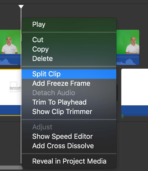 Edita tu clip en iMovie