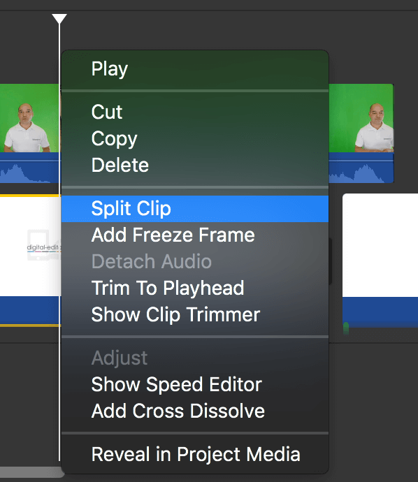 Edit your clip in iMovie