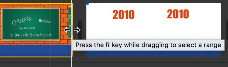 Ajustar la duración de un clip en iMovie