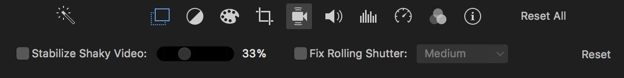 Stabilization en iMovie