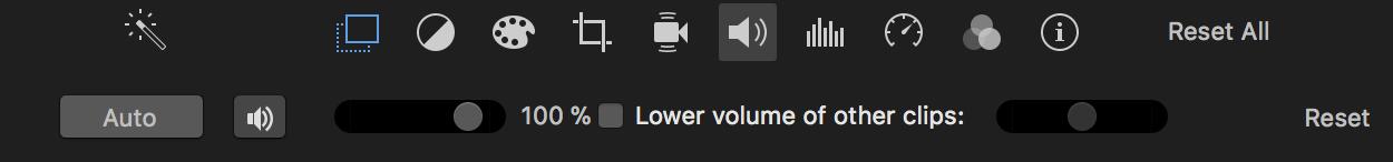 Volume en iMovie