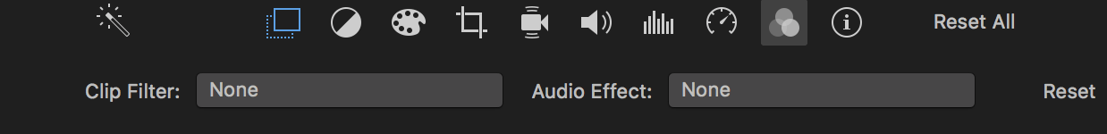 Clip filter and audio effects in iMovie