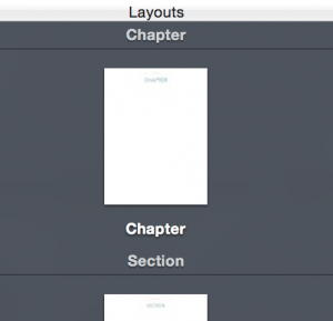 Layouts option in iBooks Author
