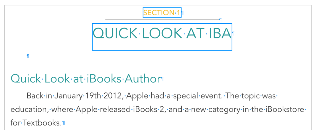 Layout Boundaries in iBooks Author