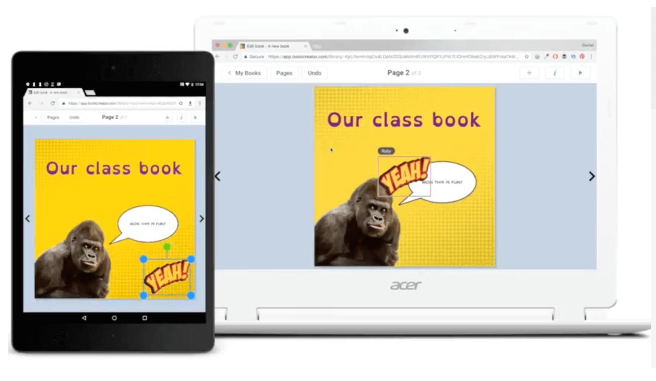 Colaboración con BookCreator en tiempo real