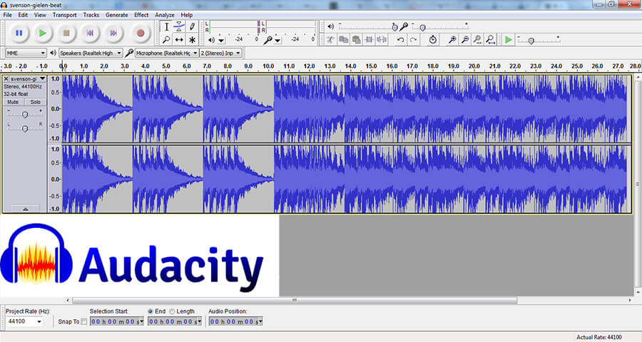 Interface Audacity