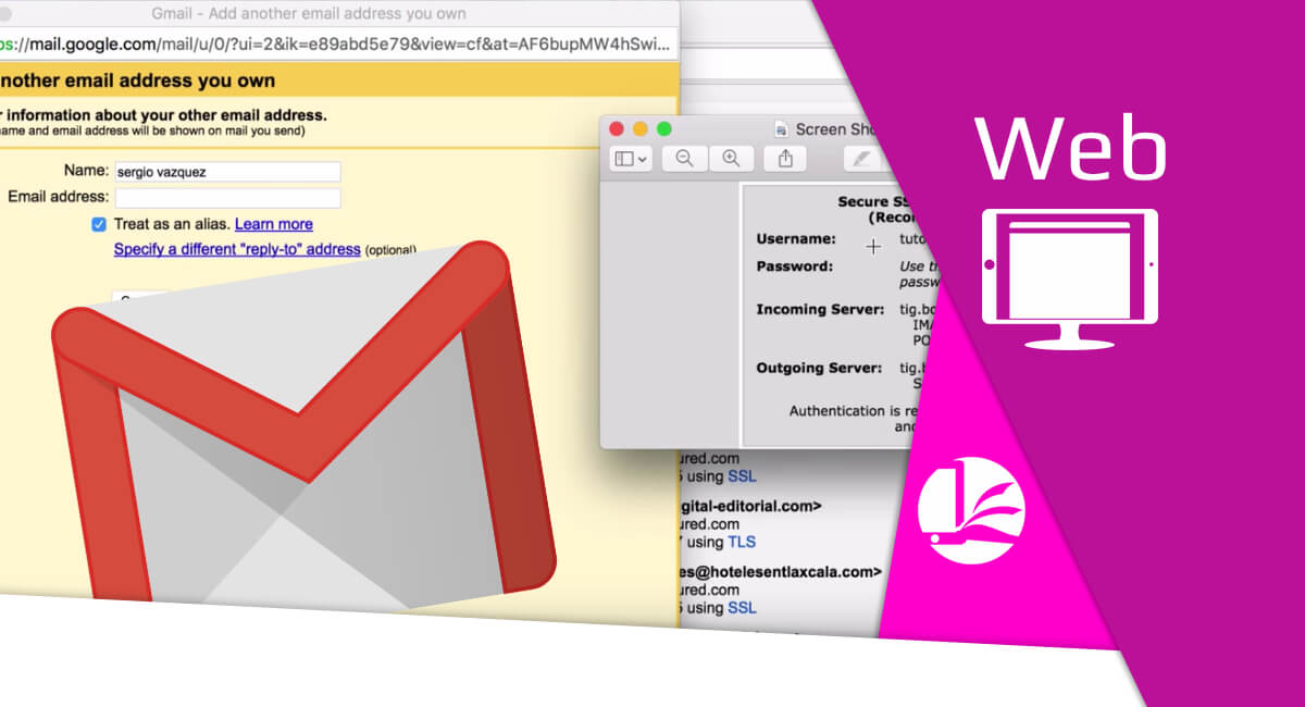 Recibe correos desde Gmail