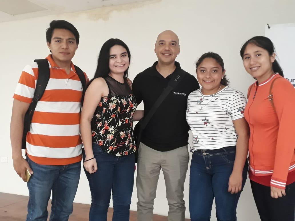 Dessireé, Yedri, Cindy y Javier; estudiantes del Instituto Tecnológico de Mérida