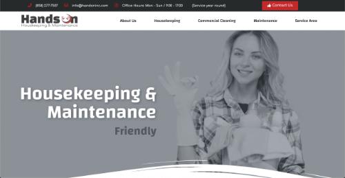 Página web hands on